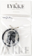 "LYKKE 24""/60cm Black Cord For 3.5"" Interchangeable Knitting Needle"