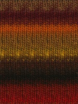 Noro #263 Red, Brown, Green, Kureyon Yarn (4 - Medium)
