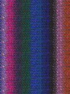 Noro #311 Blue, Green, Purple, Pink, Kureyon Yarn (4 - Medium)