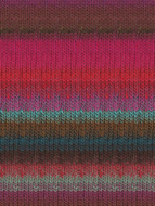 Noro #326 Pink, Brown, Blue, Kureyon Yarn (4 - Medium)
