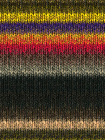 Noro #366 Grey, Black, Yellow, Red, Kureyon Yarn (4 - Medium)