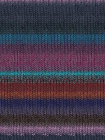 Noro #327 Violet, Blue, Turquoise, Brown Kureyon Yarn (4 - Medium)