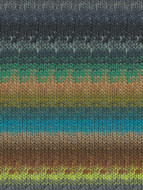 Noro #333 Tan, Blue, Green, Brown Kureyon Yarn (4 - Medium)