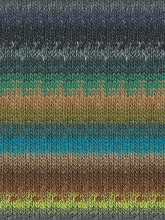 Noro #333 Tan, Blue, Green, Brown Kureyon Yarn (4 - Medium)