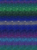 Noro #8 Blues, Green, Purple Silk Garden Sock Yarn (1 - Super Fine)