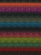 Noro #211 Black, Purple, Teal, Greens Silk Garden Sock Yarn (1 - Super Fine)