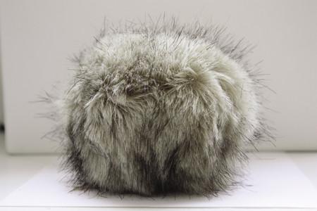 Bernat Grey Linx Faux Fur Pompom