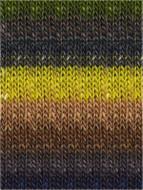 Noro #351 Acid Yellow, Browns, Denims, Greys Silk Garden Yarn (4 - Medium)