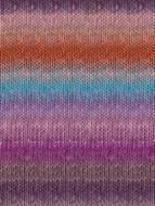 Noro #357 Orange, Violet, Turq Silk Garden Yarn (4 - Medium)