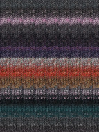 Noro #376 Black, Pink, Grey, Orange Silk Garden Yarn (4 - Medium)