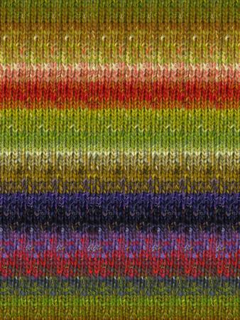 Noro #424 Green, Red, Blue Silk Garden Sock Yarn (1 - Super Fine)