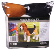 Felting Wool Beagle Needle Felting Kit (Incl. Foam Block, Instructions, Sliver, Needles, Wire, Eyes And Thread)