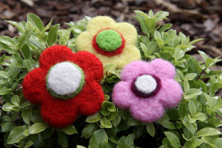 Felting Wool Flowers Needle Felting Kit Incl Instructions Sliver