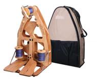 Ashford Joy Double Treadle Spinning Wheel 2 & Carry Bag