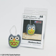 Modern Owl Diy Felting Kit by FELTastic Fashion