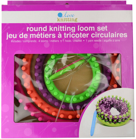 Love Knitting Round Knitting Loom Set Of 4 Primary Colours Free