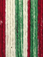 Lily Sugar 'n Cream Holiday Stripes Lily Sugar 'n Cream Yarn - Small Ball (4 - Medium)