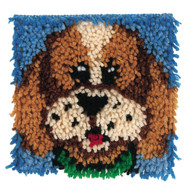 "WonderArt Puppy 8"" x 8"" Latch Hook Kit"