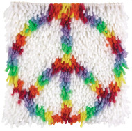 "WonderArt Peace 8"" x 8"" Latch Hook Kit"