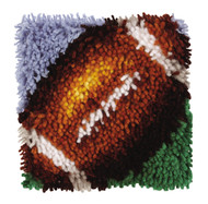 "WonderArt Football 8"" x 8"" Latch Hook Kit"