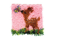 "WonderArt Little Fawn 8"" x 8"" Latch Hook Kit"