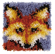 "WonderArt Mr. Fox 8"" x 8"" Latch Hook Kit"