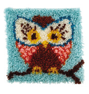 "WonderArt Hoot Hoot 12"" x 12"" Latch Hook Kit"