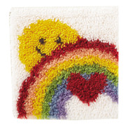 "WonderArt Sunshine Rainbow 12"" x 12"" Latch Hook Kit"