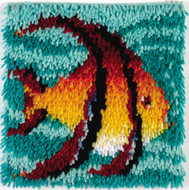 "WonderArt Angel Fish 12"" x 12"" Latch Hook Kit"