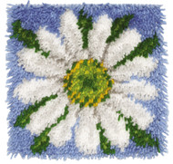 "WonderArt Daisy 12"" x 12"" Latch Hook Kit"