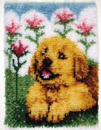 "WonderArt Flower Pup 15"" x 20"" Latch Hook Kit"