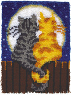 "WonderArt Moonlight Meow 15"" x 20"" Latch Hook Kit"