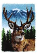 "WonderArt Deer 20"" x 30"" Classic Latch Hook Kit"