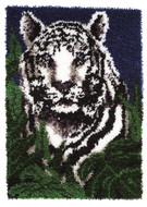 "WonderArt White Tiger 24"" x 34"" Latch Hook Kit"