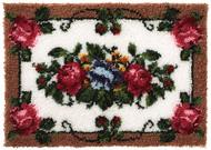 "WonderArt Elegant Roses 24"" x 34"" Latch Hook Kit"