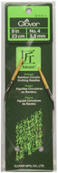 "Clover Tools Takumi Bamboo 9"" Circular Knitting Needle (Size US 4 - 3.5 mm)"