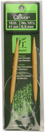"Clover Tools Takumi Bamboo 16"" Circular Knitting Needle (Size US 10.5 - 6.5 mm)"