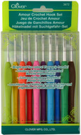 Clover Tools 10-Pack Amour Crochet Hook Set