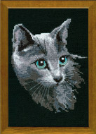 Riolis Cross Stitch Grey Cat Cross Stitch Kit