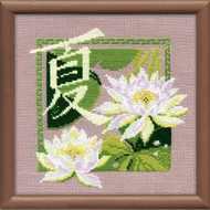 Riolis Cross Stitch Japanese Water Lily - Summer Cross Stitch Kit
