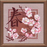 Riolis Cross Stitch Japanese Cherry Blossoms - Spring Cross Stitch Kit