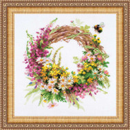 Riolis Cross Stitch Wreath With Fireweed Cross Stitch Kit