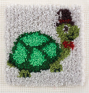 "WonderArt Turtle 12"" x 12"" Latch Hook Kit"