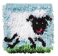 "WonderArt Sheep 12"" x 12"" Shaggy Latch Hook Kit"