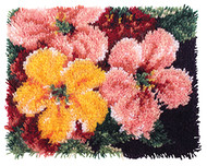 "WonderArt Brilliant Blossoms 15"" x 20"" Latch Hook Kit"