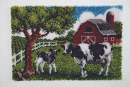 "WonderArt Contented Cows 27"" x 40"" Latch Hook Kit"