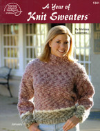 A Year Of Knit Sweaters - Book