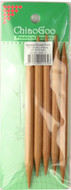 "ChiaoGoo Tools 5-Pack 6"" Bamboo Double Point Knitting Needles (Size US 13 - 9 mm)"