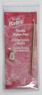 "Susan Bates Silvalume 22"" Flexible Aluminum Afghan / Tunisian Crochet Hook (Size US J-10 - 6 mm)"