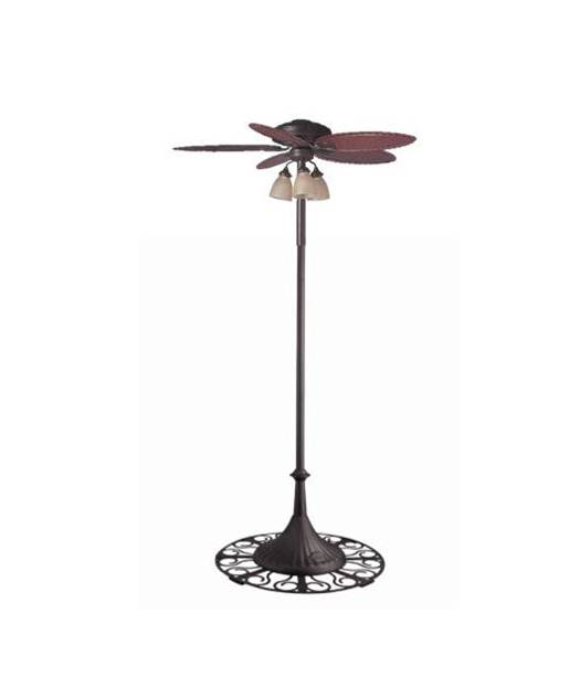 Outdoor Stand Fan Palm : Hunter outdoor free standing oasis patio ceiling fan